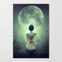 Fantasy Image Bride Staring at the Moon Canvas Print