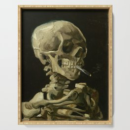 Vincent van Gogh - Skull of a Skeleton with Burning Cigarette Serving Tray