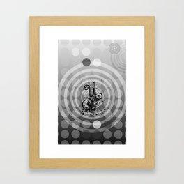 Gray Orbs Framed Art Print