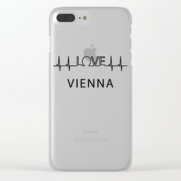 Vienna heartbeat. I love my favorite city. Clear iPhone Case