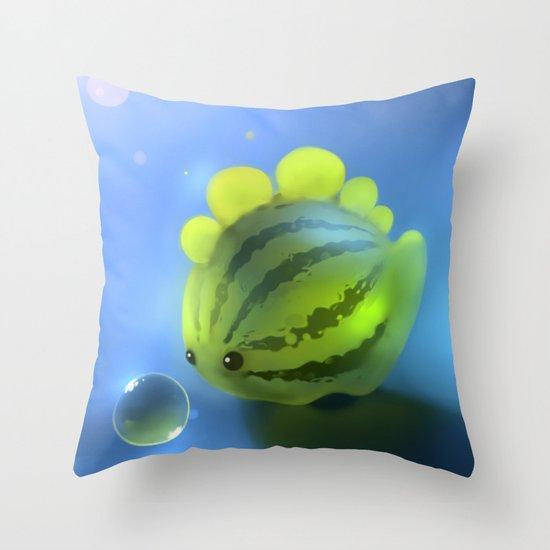 Watermelon Dino Throw Pillow