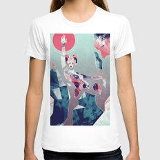 Magical Transformation White Womens Fitted Tee LARGE