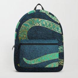 Golden emerald watersnake Backpack