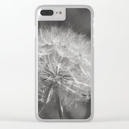 Fluffy White Seed Head Nature Lover's Gift ~ Make A Wish Clear iPhone Case