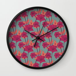 Vintage Blossoms Wall Clock