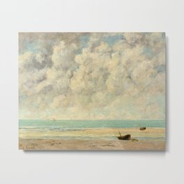 Gustave Courbet - The Calm Sea Metal Print