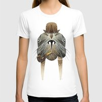 walrus T-shirts featuring walrus by Manoou