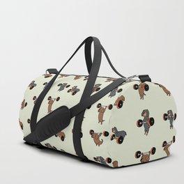 Olympic Lifting Dachshund Duffle Bag