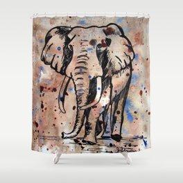 Eager Elephant Shower Curtain