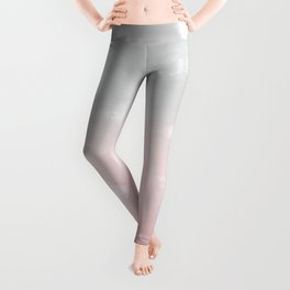 Touching Blush Gray Abstract Painting #1 #ink #decor #art #society6 Leggings
