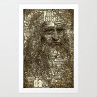 da vinci Art Prints featuring Leonardo da Vinci by AnacondaOnline.eu