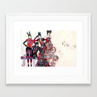 girls Framed Art Prints featuring Girls by Felicia Cirstea