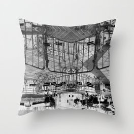 Summer space, smelting selves, simmer shimmers. 28, grayscale version Throw Pillow