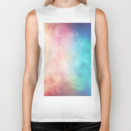 Fire and Ice - Watercolor Painting Biker Tank