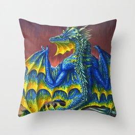 Horned Dragon Throw Pillow