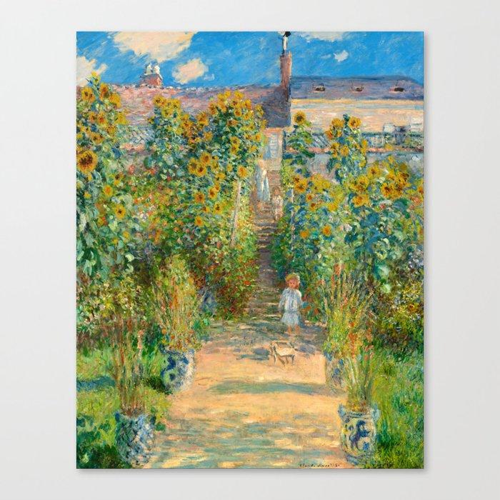 Exceptionnel Claude Monet, The Artistu0027s Garden At Vétheuil, 1880 Canvas Print