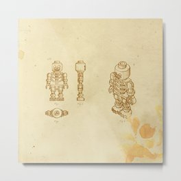 Lego Skeleton Metal Print