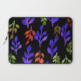 180726 Abstract Leaves Botanical Dark Mode 24 |Botanical Illustrations Laptop Sleeve