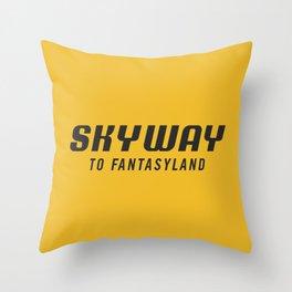 Skyway To Fantasyland  Throw Pillow