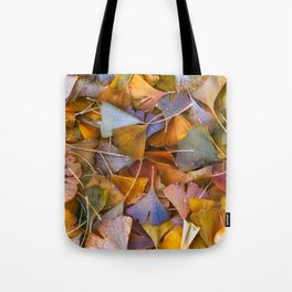 Fallen Ginkgo Leaves Tote Bag