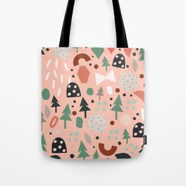 Holiday Forest Pink Tote Bag
