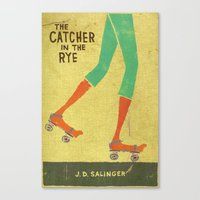 catcher in the rye Canvas Prints featuring the catcher in the rye by randy mckee