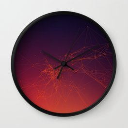 Sunset gradient connection Wall Clock