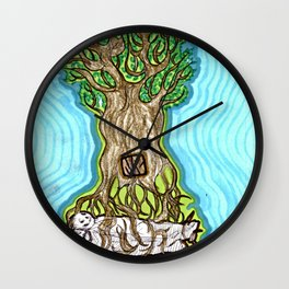 Rooted Figures Wall Clock