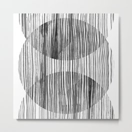 Monastery Striped Circles Metal Print