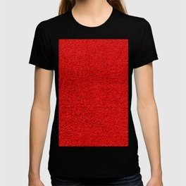 Rose Red Shag pile carpet pattern T-shirt