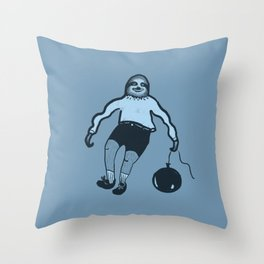 A Sloth's Day Throw Pillow