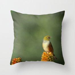 Silvereye Queen Throw Pillow