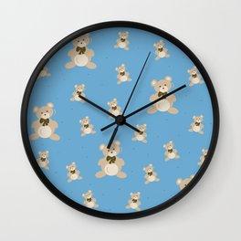 Teddy Bears - Blue Wall Clock