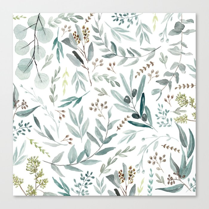 Eucalyptus pattern Leinwanddruck