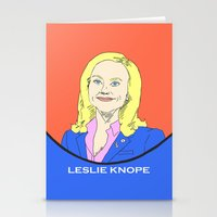 leslie knope Stationery Cards featuring Leslie Knope (Parks & Recreation) by Guiltycubicle