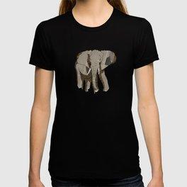Newspaper Elephant T-shirt