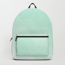 Mint Green Geometric Line Triangle Backpack