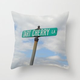 Tart Cherry Lane Throw Pillow