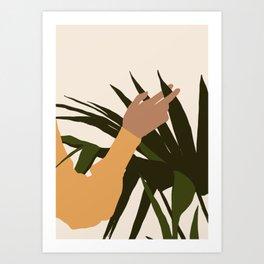 SENUALITÀ MONDIALE - Half of world - Lovely girl hand touching plant Art Print