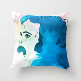 David Crosby Music is Love Throw Pillow