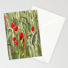 Corn Poppies Stationery Cards
