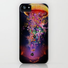Electric Jellyfish In your Hands iPhone Case