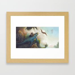Confronting the Pterosaurs Framed Art Print