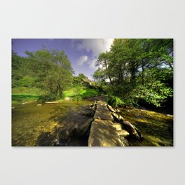 Tarr Steps in Autumn  Canvas Print