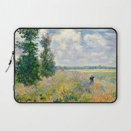 Poppy Fields near Argenteuil by Claude Monet Laptop Sleeve