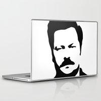 ron swanson Laptop & iPad Skins featuring Ron Swanson by Bjarni Bragason