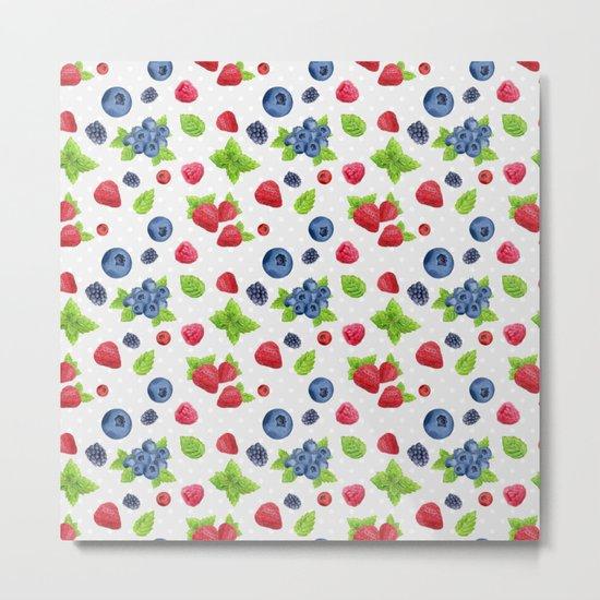 Berries Pattern 02 Metal Print