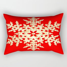 Snowflake in a Red Field Rectangular Pillow