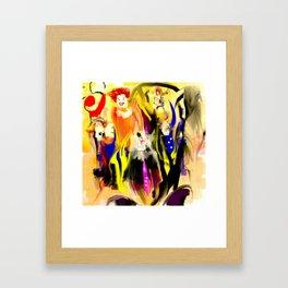 Clowns Framed Art Print