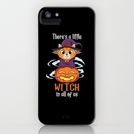 There Little Witch in All Of Us Cute Cat Halloween iPhone Case